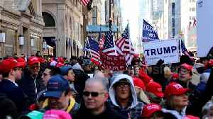 Happy no collusion day! Trump supporters take to streets of New York [Video]