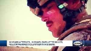 10 years after Cpl. Michael Oullette's death, fellow Marines volunteer in his name [Video]