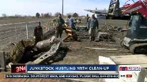 Junkstock founders, friends and vendors pitch in on clean-up ahead of April flea market [Video]