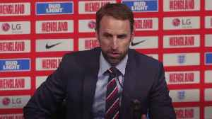 News video: Gareth Southgate praises 'devastating' Raheem Sterling