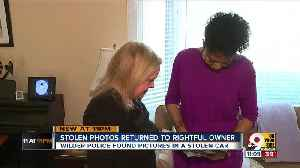Stolen photos returned to rightful owner [Video]