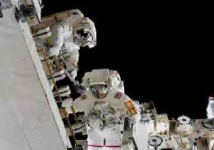 ISS Astronauts Replace Station Batteries in Spacewalk [Video]