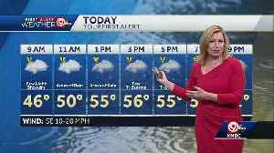 Look for scattered rain showers Saturday [Video]