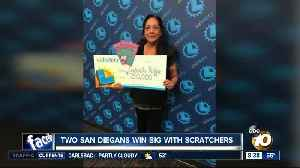 Two San Diegans win big with scratchers [Video]