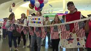 Special Olympic athletes return home from the world games gold medals [Video]