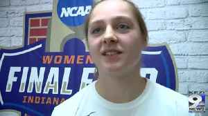 Web Extra: Mikayla Pivec talks about NCAA Tournament (3/22/19) [Video]