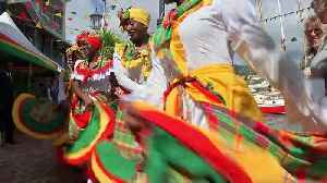 Prince Charles and Camilla enjoy street party in Grenada [Video]