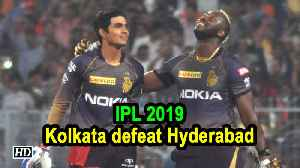 News video: IPL 2019 | Russell's blitzkrieg helps KKR beat Sunrisers