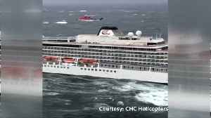 Passengers airlifted from cruise ship off Norway [Video]