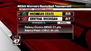 Shay Colley's late layup lifts Spartans over Chippewas in NCAA first round [Video]