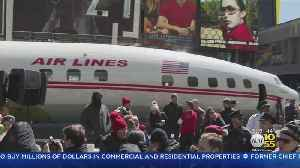 TWA Plane Lands In Times Square [Video]