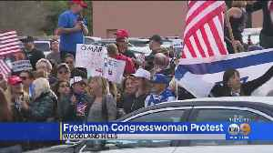 Congresswoman Ilhan Omar Met By Protesters In Woodland Hills [Video]