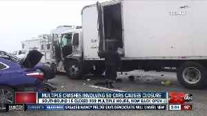 Multi-car pile up on grapevine leaves many injured [Video]