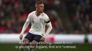 England boss Southgate hails Henderson as midfielder reaches milestone [Video]