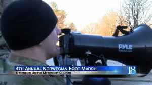 4th annual Norwegian Foot March held at Otterbein United Methodist [Video]