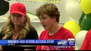 Paradise High track and field student signs college papers [Video]