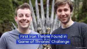 Game Of Thrones Iron Throne Challenge Begins With A Find [Video]
