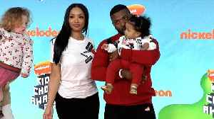 Princess Love Norwood and Ray J 2019 Kids' Choice Awards Orange Carpet [Video]
