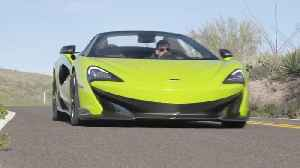 McLaren 600LT Spider in Lime Green Driving in the country [Video]