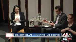 Rep. Sharice Davids talks healthcare, infrastructure at first town hall since taking office [Video]