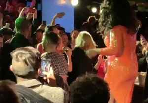 Adele and Jennifer Lawrence Make Surprise Appearance at NYC Gay Bar [Video]