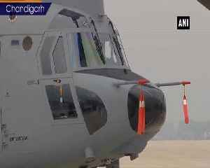 News video: Induction ceremony of Chinook helicopters at Air Force station 12 wing in Chandigarh