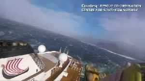 Rescue worker's helmet camera captures dramatic cruise ship rescue [Video]