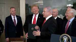 Netanyahu Tells Trump He Brought Him A 'Case Of The Finest Wine From Golan' [Video]