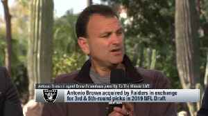 Agent Drew Rosenhaus explains Oakland Raiders wide receiver Antonio Brown's involvement in trade to Raiders [Video]