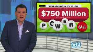 $750M Powerball Drawing Would Be 4th-Largest US Jackpot [Video]