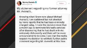 News video: Stormy Daniels On Michael Avenatti Charges: 'I Am Saddened But Not Shocked'
