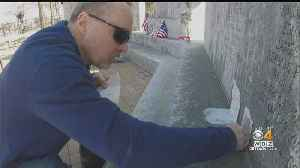 Crews Remove Oil From Portion Of Vandalized South Boston WWII Memorial [Video]