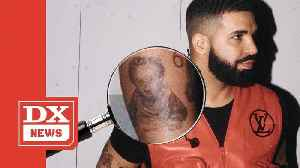 Drake Pops Up With Baby Adonis Tattoo [Video]