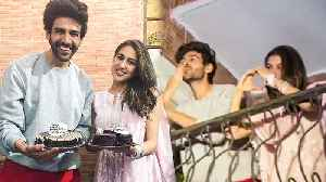 Sara Ali Khan Kartik Aaryan FIRST Time Together In PUBLIC, Greet Fans | Love Aaj Kal 2 [Video]