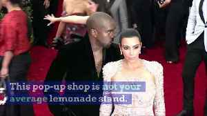 Kanye and Kim Launch Yeezy Lemonade Stand for Charity [Video]