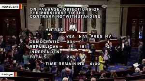 House Fails To Override Trump's Emergency Veto, 248-181 Vote Falls Short Of Needed Two-Thirds Majority [Video]