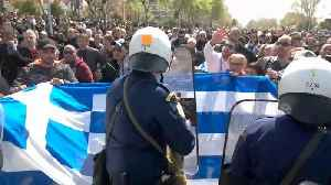 Tension flares as Greek protesters clash with police over Macedonia name deal [Video]