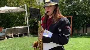 Jennifer Garner Plays Saxophone For Reese Witherspoon's Birthday [Video]