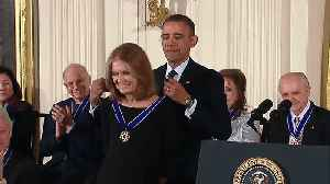 Flashback to President Obama Presenting Gloria Steinem the Medal of Freedom [Video]