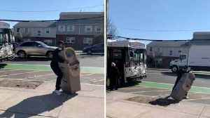 This Doesn't Make Any Cents! Man Struggles With Balance While Trying To Get Atm On Bus [Video]