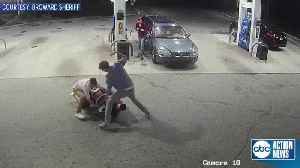 Spring breakers fight off attempted robbery, tackle gunman at Florida gas station | Surveillance video [Video]