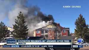 Covington apartment residents get answers after fires [Video]