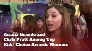 Chris Pratt And Ariana Grande Win Kids Choice Awards [Video]
