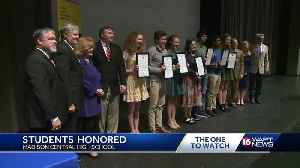 C SPAN bus rolls up to Madison Central High School [Video]