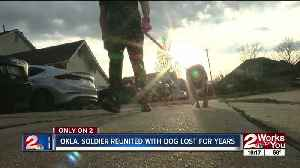 Oklahoma soldier reunited with dog lost for years [Video]