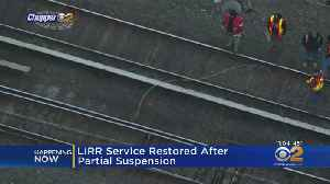 LIRR Service Restored After Downed Power Lines [Video]