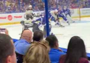 Tampa Bay Lightning Player Knocks Referee to the Ice During NHL Game [Video]