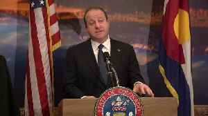 Gov. Jared Polis announces new state logo at press briefing [Video]