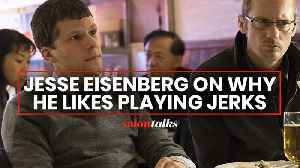 Jesse Eisenberg on depicting a 'Jesse Eisenberg type' in 'The Hummingbird Project' [Video]