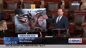 GOP Senator Attacks Green New Deal with Image of Reagan Riding Velociraptor [Video]